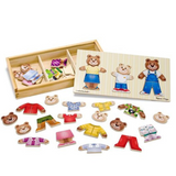 Wooden Bear Family Dress Up