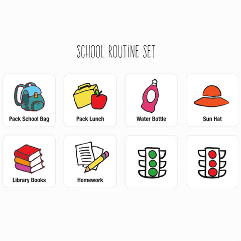 School Routine Magnet Set - CLEARANCE/DISCONTINUED