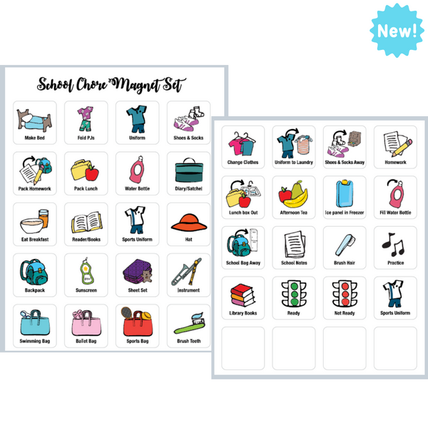 School Routine Magnet Set