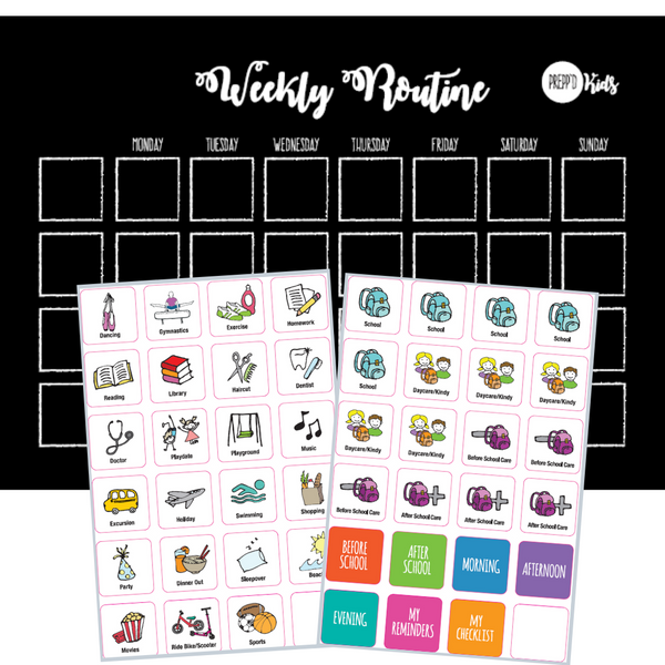 Weekly Routine Chart Set