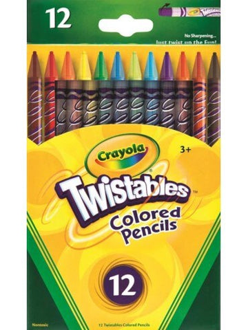 Crayola Twistable Coloured Pencils (12 pack)