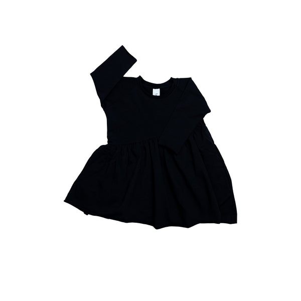 Booso Bevel Black Dress