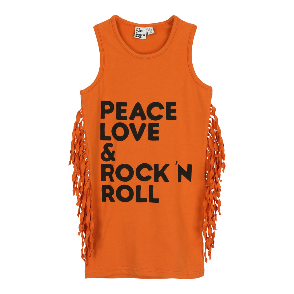 Six Hugs dress - peace, love & rock n roll