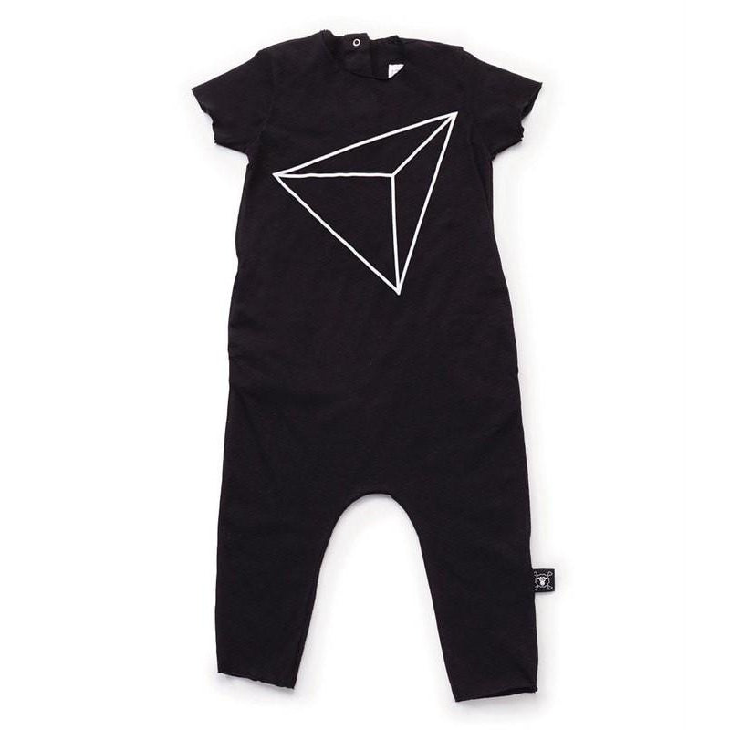 Nununu Black Short Sleeve Overall