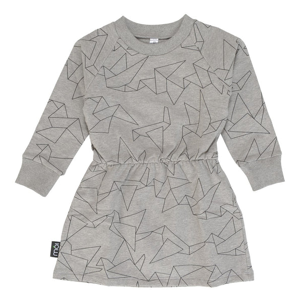 Moi Origami Grey Sweater Dress
