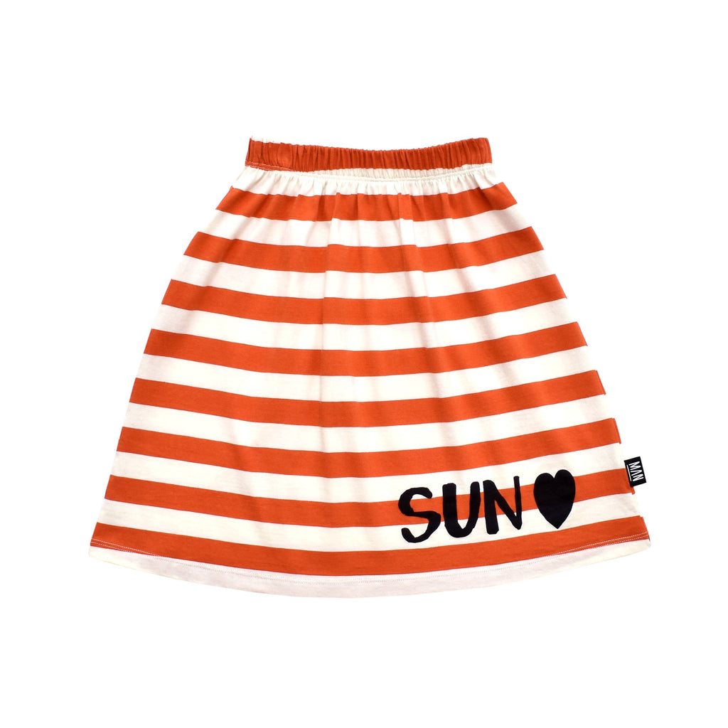 Little Man Happy SUN HEART Midi Skirt
