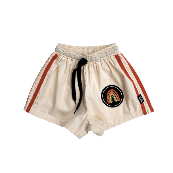 Little Man Happy Rainbow woven shorts