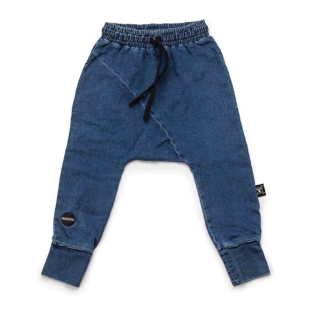 Nununu denim diagonal baggy pants