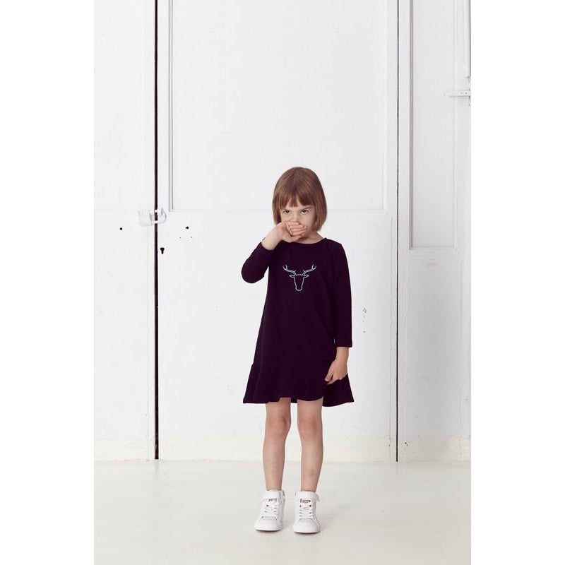 Nosweet Black sweatshirt frill dress