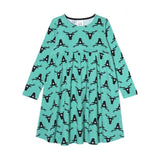 Nosweet Emerald green deer smock dress