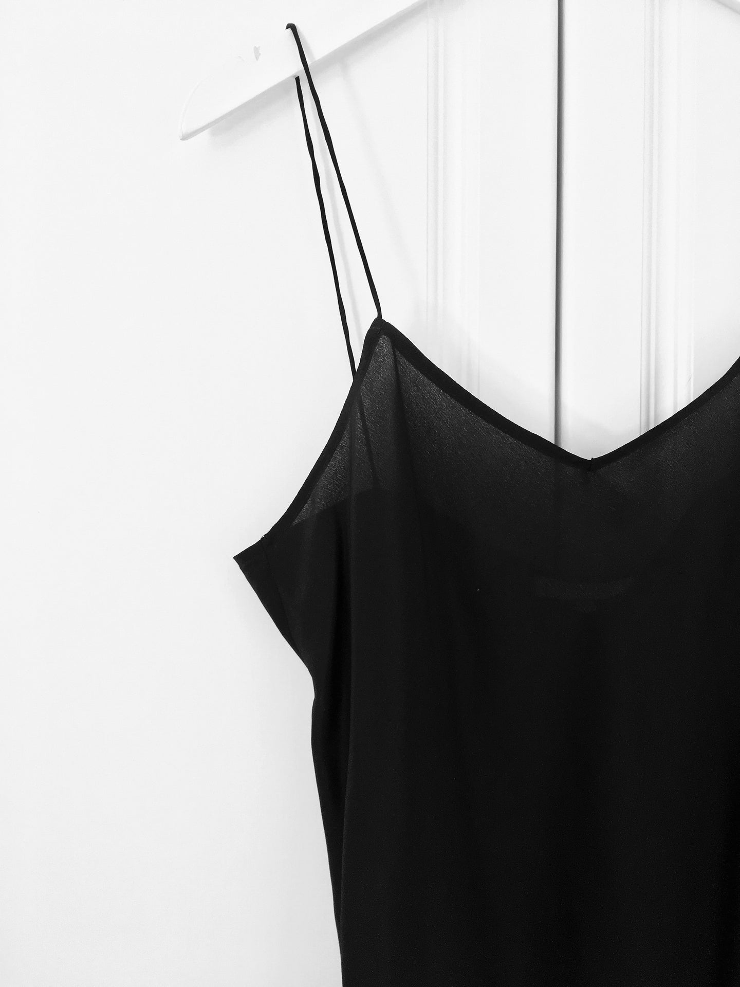 The Bias Silk Camisole - Black