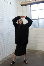 The June Longline Knit Sweater - Jet Black