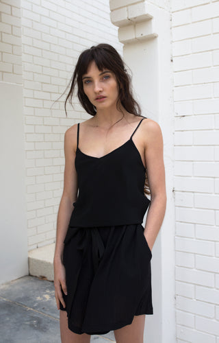 Bias Silk Camisole - Black