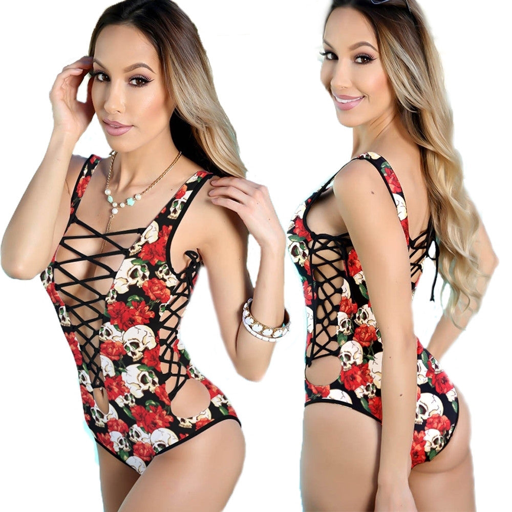 Skulls and Roses Sexy Swimsuit