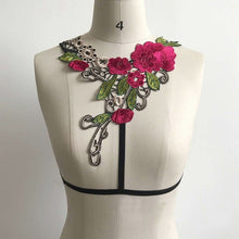 Fancy Floral Harness Cage Bra Goth Fetish Lingerie