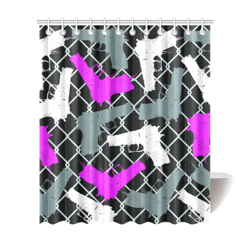 Gun Gangster Shower Curtain 72