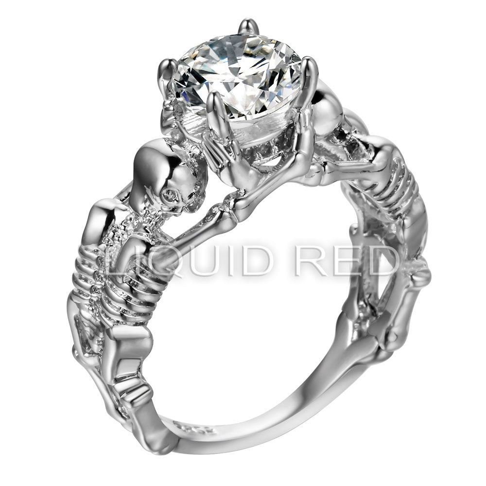 Rhinestone Skeleton Ring