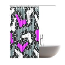 "Gun Gangster Shower Curtain 72""x84"""