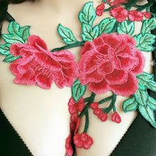 Fancy Red Floral Lace Harness Cage Bra Lingerie