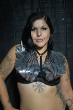 Silver Angel Wings Sparkle Cage Harness Top