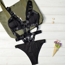 Strappy Full Body Harness Swimsuit Goth Fetish Lingerie