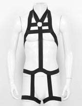 Mens Bondage Full Body Harness with Leg Garter