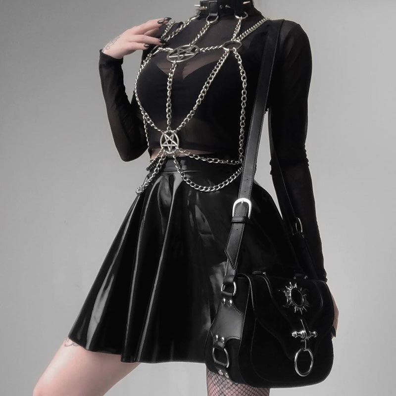 Pentagram Chain Bra Harness Top