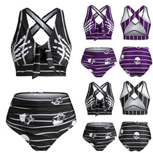 Skeleton Tankini Two Piece Swimsuit