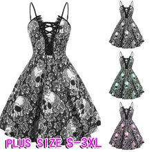 Skulls and Lace retro dress