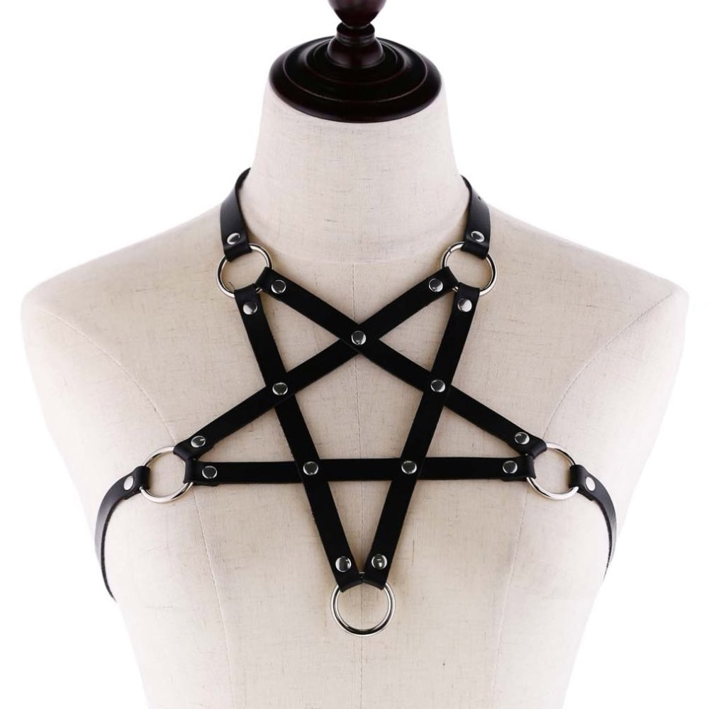 Pentagram Unisex Chest Harness Top