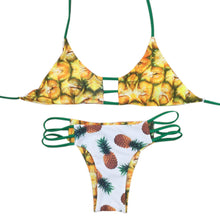 Retro Pinup Pineapple Reversible Bikini Swimsuit