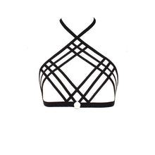 Triple Cage Harness Bra Goth Fetish Lingerie