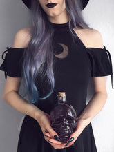 Moon off the shoulder gothic black dress