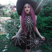 Spider web halter dress