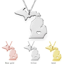 Michigan Love Pendant Necklace