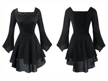 Vintage Goth / Steampunk / Pirate ruffle dress