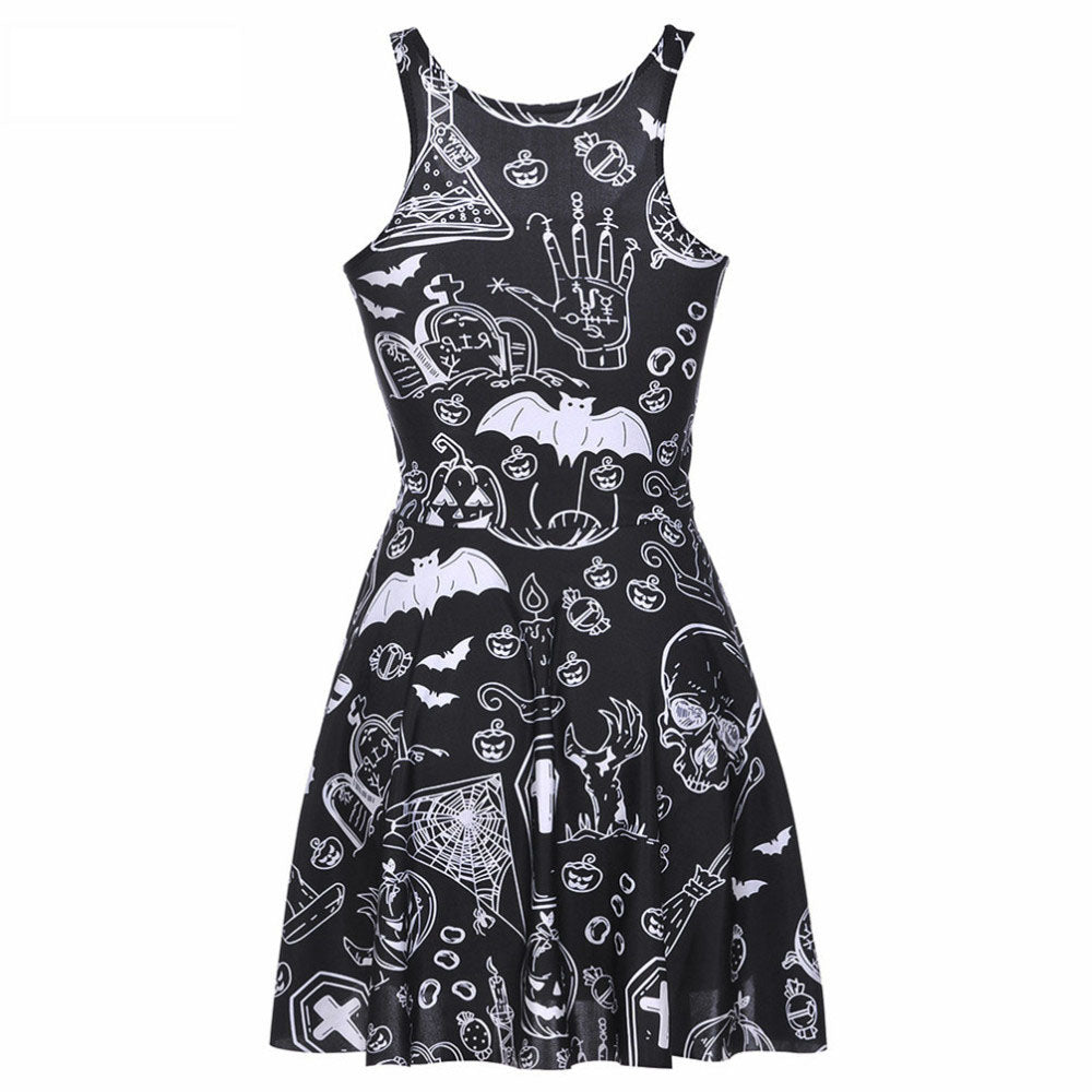 Halloween ghost skull dress