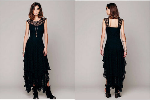Gothic Long Lace Dress