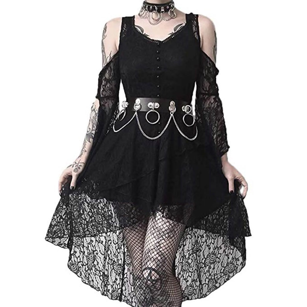 Wednesday Black Lace Dress