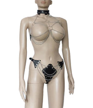 Sexy Chain Bra Harness Top and Bottom Set