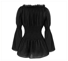 Vintage Goth / Steampunk / Pirate off the shoulder lace ruffle top