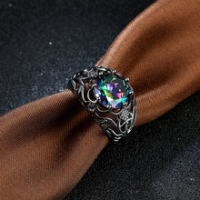 Colorful stone gothic ring