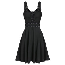 Lace Up Punk Tank Dress