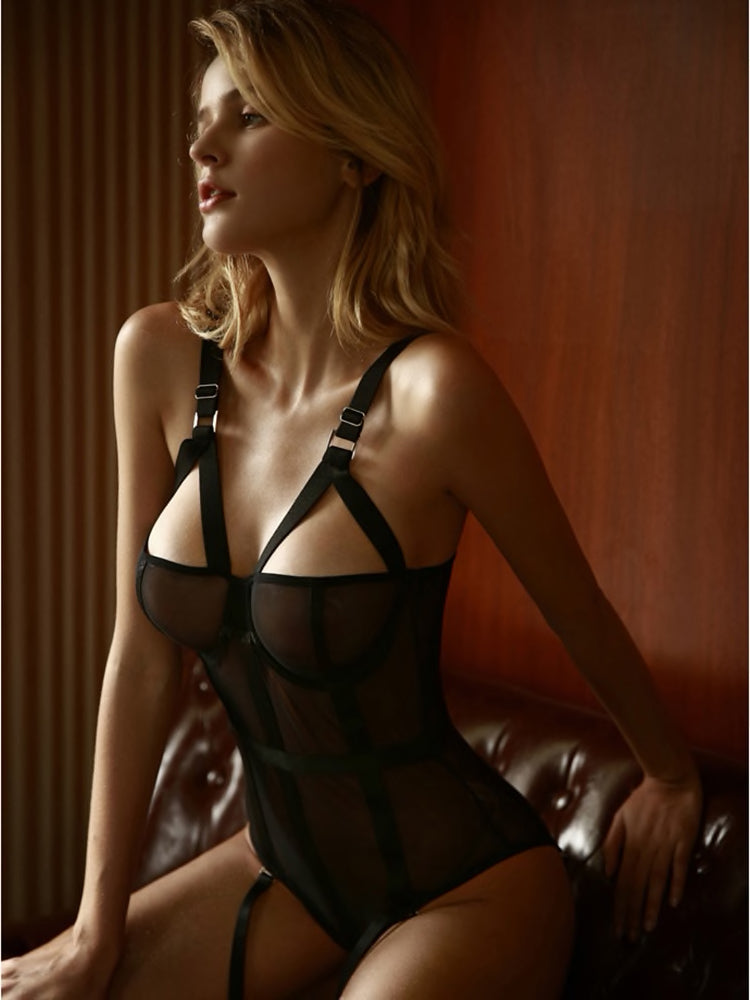 Sheer Jacklyn Full Body Harness Fetish Lingerie
