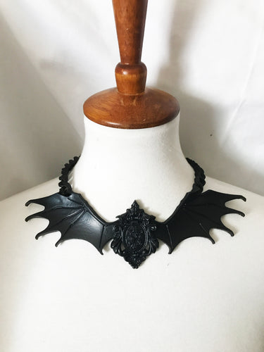 Gothic Bat 3D Handmade latex rubber necklace