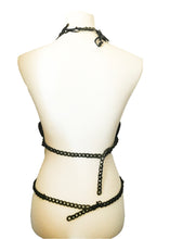 Majestic 3D Handmade latex black rubber body harness set