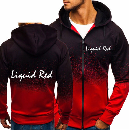 Liquid Red Las Vegas Dripping Red Unisex Zip Up Hoodie Sweatshirt