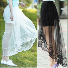 High Low Gothic Lace Skirt
