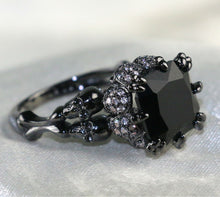 Large Black Skull Jewel Ring