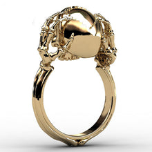 Skull Skeleton Hands Ring